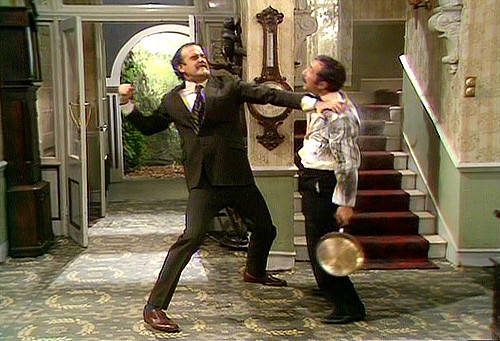 scene from Fawlty Towers